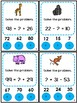Math Center Addition and Subtraction Poke Game Zoo Animals