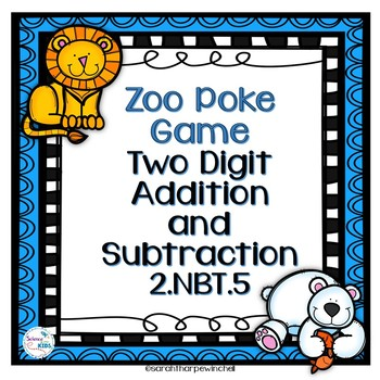 Addition and Subtraction Poke Game Zoo Animals