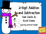 Two-Digit Addition and Subtraction with Regrouping Task Cards