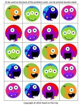 Two Digit Addition and Two Digit Subtraction - Board Game - Center Activity