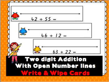Addition with Open Number Lines Write & Wipe Cards