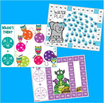 Two Digit Addition with Regrouping - Addition Games