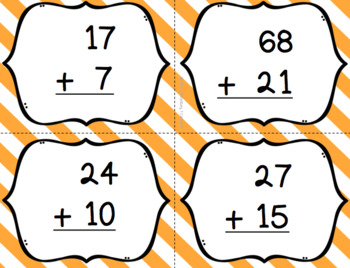 Two Digit Addition with Regrouping Bingo