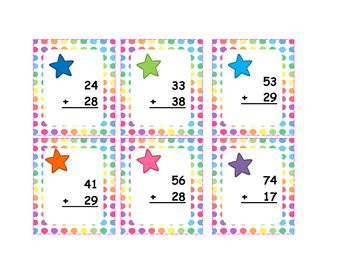 Two Digit Addition with Regrouping -Math Centers