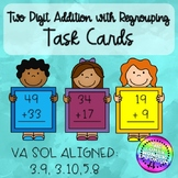 Addition with Regrouping Task Cards and Check Ins