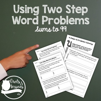 Two Digit Addition Two Step Word Problems