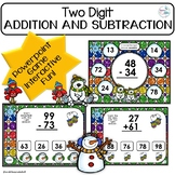 Winter Activities Math Addtion and Subtraction Interactive Powerpoint Game