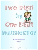 Two Digit By One Digit Multiplication