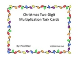 Two-Digit Christmas Multiplication Task Cards