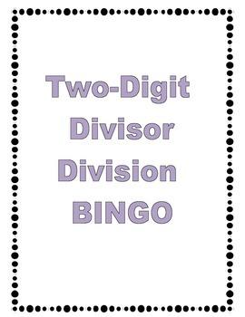 Two Digit Divisor Bingo Game