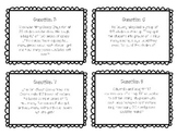 Two Digit Divisor Word Problems Task Cards