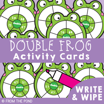 Two Digit Doubles Activity Cards {Addition}