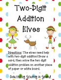 Two Digit Elf Math Centers (2 Centers!)