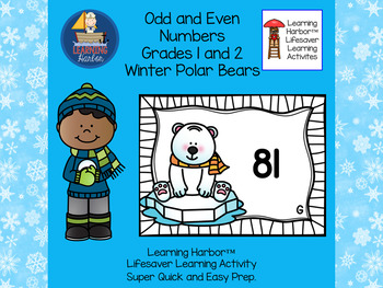 Two Digit Even or Odd Numbers     Polar Bears   Grade 2   Task Cards