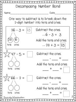 Subtraction: Two-Digit Minus One-Digit