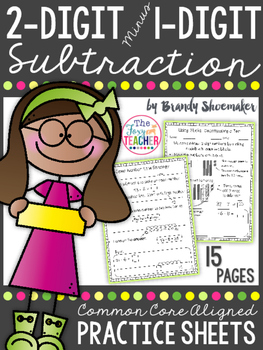 Subtraction: Two-Digit Minus One-Digit