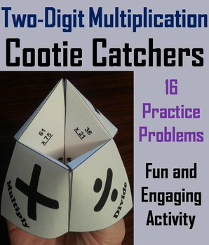 Double Digit Multiplication Game for 2nd, 3rd, 4th, 5th, 6