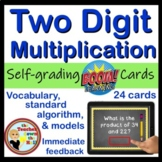 BOOM Two Digit Multiplication - BOOM Cards! (24 Digital Task Cards)