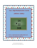 Two-Digit Multiplication Cards (Within 1000)!