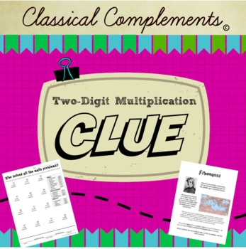 Two-Digit Multiplication Clue