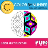 Two-Digit Multiplication Color by Number