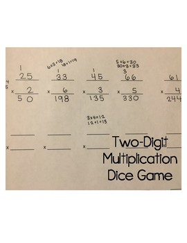 Two-Digit Multiplication Dice Game