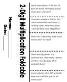 Two-Digit Multiplication Foldable