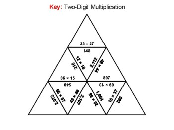 Two Digit Multiplication Game: Math Tarsia Puzzle