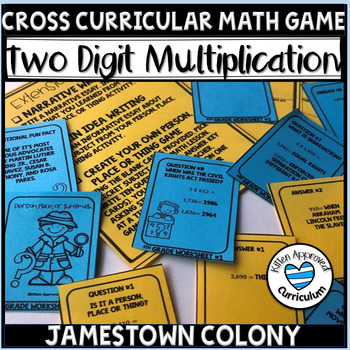Two Digit Multiplication Games Math Game for 4th Grade Review Jamestown Colony