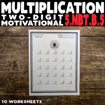 Two-Digit Multiplication Motivational Worksheets