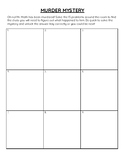 Two-Digit Multiplication Murder Mystery Activity