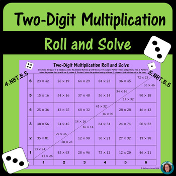 Two-Digit Multiplication Roll and Solve