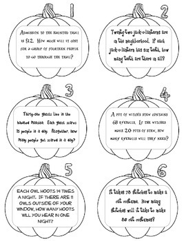 Two-Digit Multiplication Scoot - Halloween