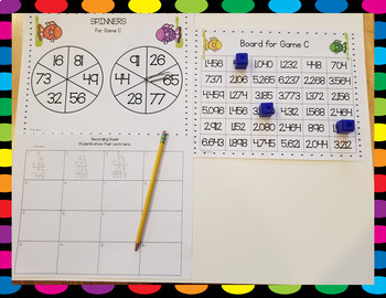 Two Digit Multiplication Spinner Games