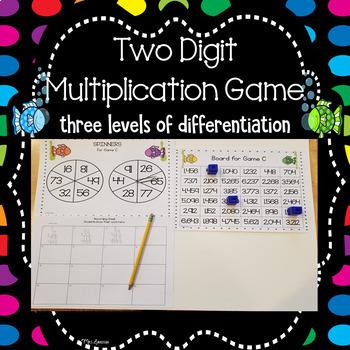 Two Digit Multiplication Spinner Games