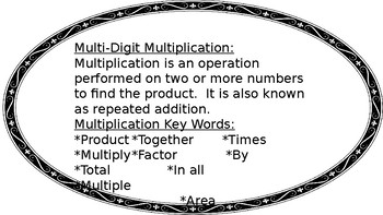 Two-Digit Multiplication Strategies Anchor Charts