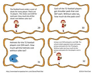 Two Digit Multiplication Task Cards