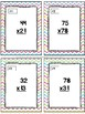 Easter Themed Two-Digit Multiplication Task Cards & Game 4.NBT.5
