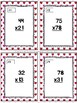 Two-Digit Multiplication Task Cards & Game (Valentine's Day)