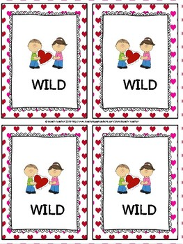 February Themed Two-Digit Multiplication Task Cards & Game