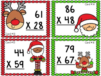 Two Digit Multiplication Task Cards - SCOOT, Math Centers