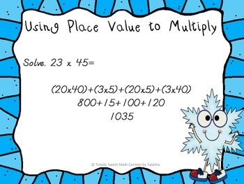 Two Digit Multiplication Walk the Room Winter Edition
