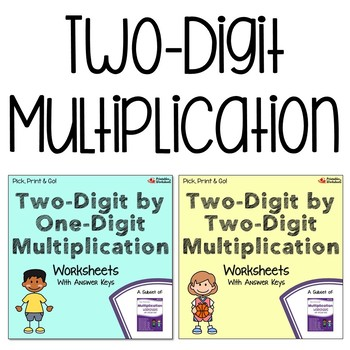 Multiplying 2 Digit Numbers Worksheets With Answer Keys Tpt