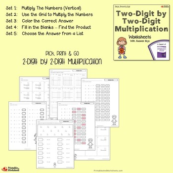 Multiplying 2 Digit Numbers Worksheets With Answer Keys