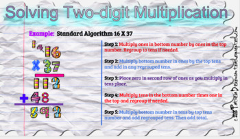 Two Digit Multiplication with Google Slides