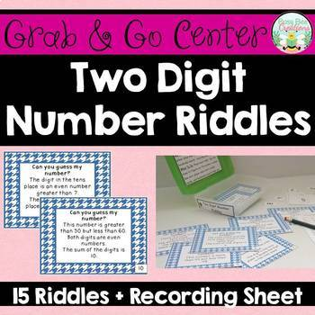 Two Digit Number Riddles - Place Value Math Center