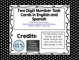 Two Digit Number Task Cards in English and Spanish