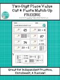Two-Digit Place Value Cut & Paste Match-Up FREEBIE