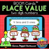 Two Digit Place Value Elves - Christmas Boom Cards