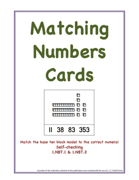 Two-Digit Place Value Matching Cards